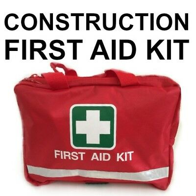 First Aid Kit for WORK BUILDER RED BAG CONSTRUCTION OHS/WHS FABRIC BANDAIDS