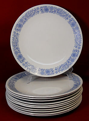 "ROYAL DOULTON china CRANBOURNE Dinner Plate - Set of Eleven (11) - 10-5/8"" WORN"