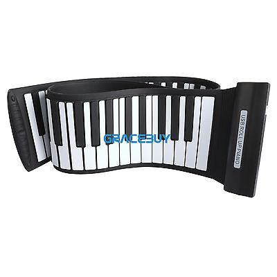 88 Keys USB Silicon Flexible Roll Up Electronic Piano Keyboard Gift for Child