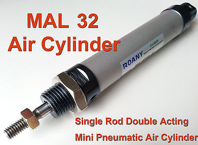 NEW MAL 32mm x 125mm Single Rod Double Acting Mini Pneumatic Air Cylinder 32x125