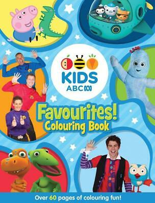 NEW ABC KIDS Favourites! Colouring Book (Blue) By ABC Paperback Free Shipping