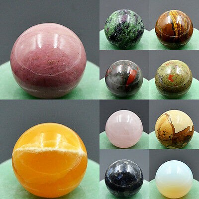 30mm Natural Gemstone Round Ball Crystal Healing Decor Statue Sphere Wholesale
