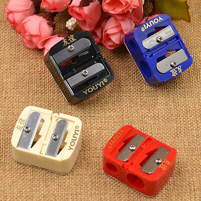 2pcs Mini Precision Cosmetic Makeup Pencil Sharpener Eyeliner Eyebrow Lip Liner