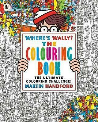 NEW Where's Wally? The Colouring Book By Martin Handford Paperback Free Shipping