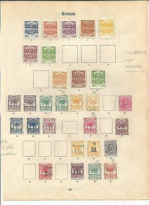Samoa early collection on 4 pages cat £160+ Mint & Used