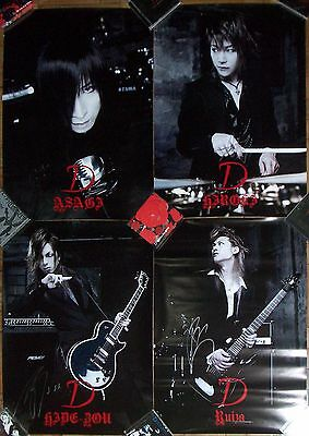 D Signed Poster Lot Japan Visual Kei Band Asagi Ruiza Versailles RARE Original