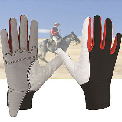 2016 Men Ladies Equestrian Horse Horseback Riding Tactified Soft Leather Gloves