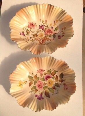 Wiltshaw and Robinson Carlton Ware Blush Fluted Edge Oval Dish Pair (can Split)