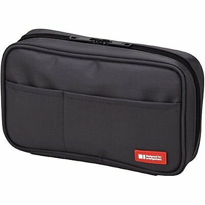 LIHIT LAB Pen Case Black A-7551-24 Japan Import Japanese