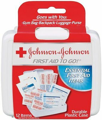 Johnson & Johnson First Aid to Go! Essential First Aid Items - 12 items