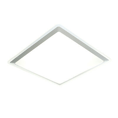 Saxby 13977 - Cyba - 40W T5 HF Fluorescent Flush Silver Indoor Ceiling Light