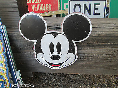 MICKEY EARS Mickey Mouse Ears Disney Embossed Metal Sign Display disneyland cool