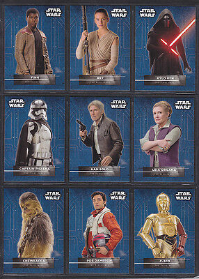 Topps Star Wars - The Force Awakens Series 2 - Character Sticker Insert Set (18)