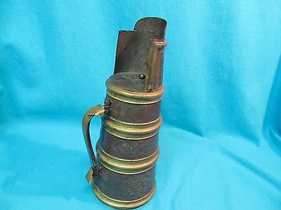 "13"" Antique Chinese Brass Bronze Pitcher Floral Engraved Marked China"