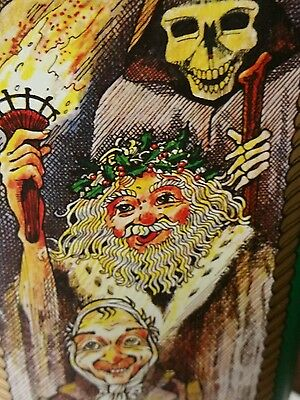 JB Scotch whisky tin made in England A Christmas Carol over 12 inches