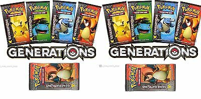 Lot of 20 X Pokemon Generations Booster Packs Sealed  Unsearched Pack Boosters