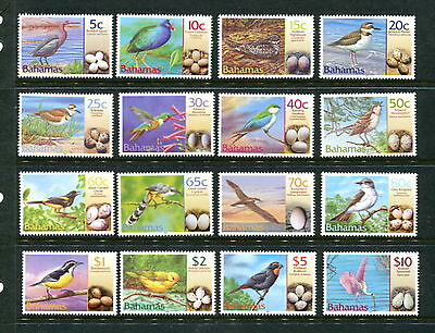 Bahamas  2001  #1007-22   birds eggs     16v.  MNH  E199