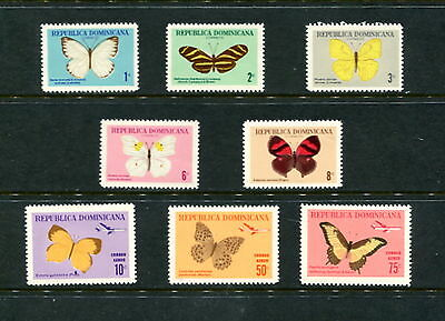Dominican Republic  1966  #622-6, C146-8   butterflies   8v.   MNH  E260