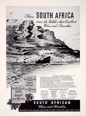 1948 Ad South African Wine Brandy Cooperative Growers Association Shore XGTC7