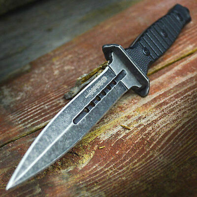 "9"" TACTICAL COMBAT NECK KNIFE Survival Hunting MILITARY BOWIE DAGGER Fixed Blade"