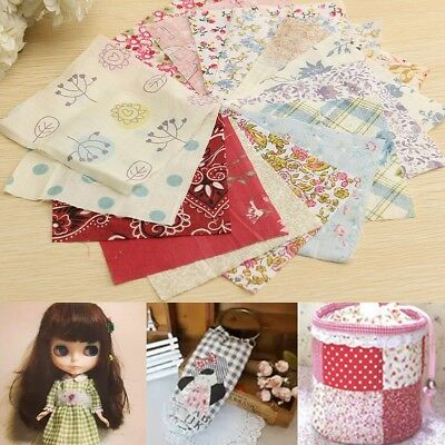 100Pcs 10x10cm Square Floral Cotton Fabric Patchwork Cloth For DIY Craft Sewing
