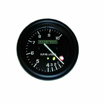 Racetech 80mm Tachometer/Rev Gauge, Selectable For 4/6/8 Cylinders 0-10,000 Rpm