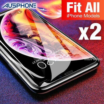 Tempered Glass Screen Protector Apple iPhone 11 Pro X XS Max XR 8 7 5S 6S Plus