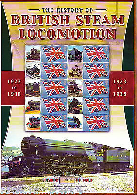 BC-053 - Steam Locomotion History (1923-1938) Smilers Stamp Sheet