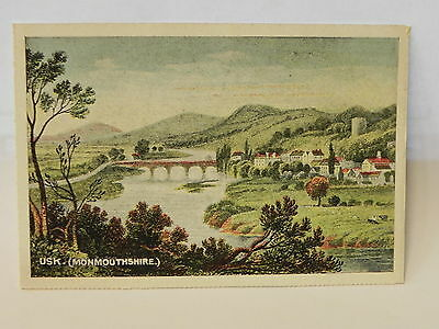 Wales Postcard Usk Monmouthshire A3 056