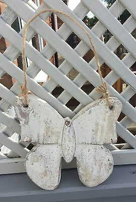 Garden Butterfly Shabby Stone Effect Chic Rustic String Patio Wall Plaque Large