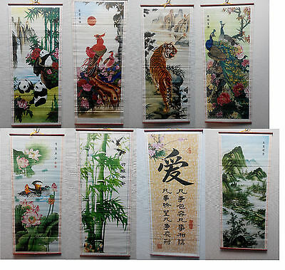 New Chinese Painting Scroll Wall Hanging.  Paper printed picture, Many Designs