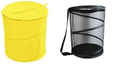 Pop Up Laundry Hamper Bin Washing Basket Fold Away Clothes Bag Bathroom Storage