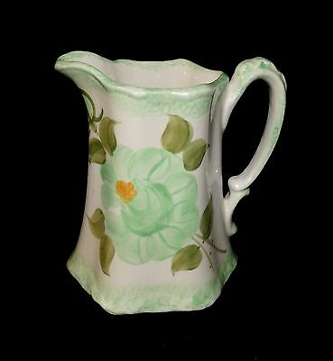 Small Hand Painted Spring Green Buttermilk Pitcher Cash Family
