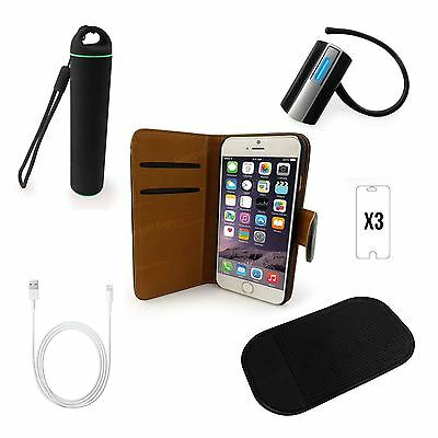 5 in 1 Accessory Bundle Case Cover Power Bank Headset Cable Mat for iPhone 6 6S