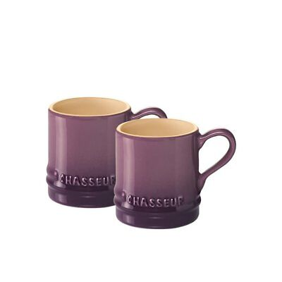NEW Chasseur La Cuisson Petit Espresso Cups Set of 2 Plum (RRP $19)