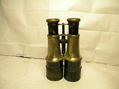 Anitique Brass LEMAIRE FABT Paris Field Military Binoculars