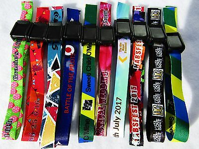 300 Personalised Wristbands,Printed with Your Logo,Image or Text,Events,Wedfest