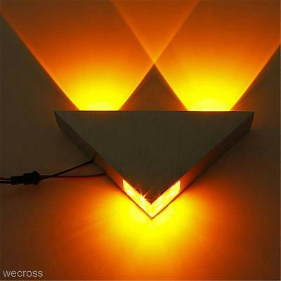 Indoor Home Lighting LED 3W Porch Decor Wall Lamp Triangle Flush Ceiling Light