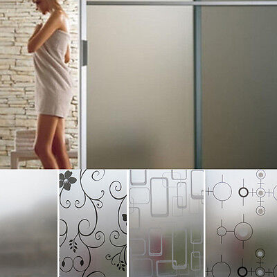 45CM*2M Frosted Glass Film Waterproof PVC Privacy Home Bathroom Window Sticker