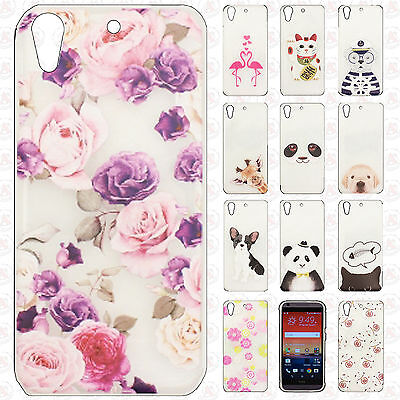 For HTC Desire 626 Etched 3D TPU Hard Skin Case Phone Cover +Screen Protector