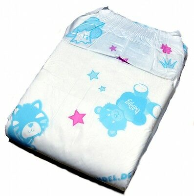 Fabine Teddy ABDL Nappy Size LARGE - Single Pack of 8 Nappies
