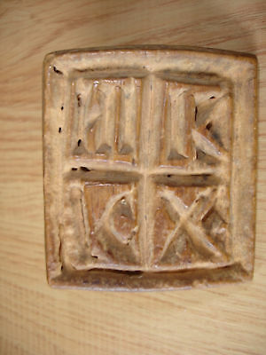 Antique Wooden Seal For Ritual Bread