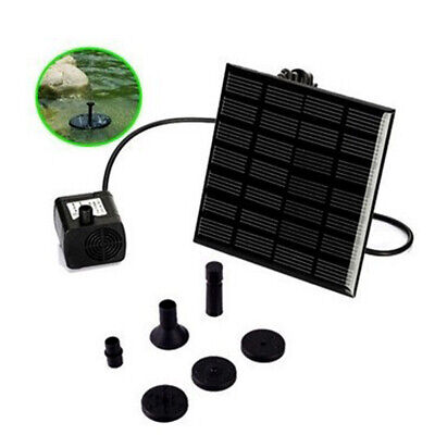 Solar Fountain Submersible Water Pump Power Panel Home Garden Pool Pond 180L / H