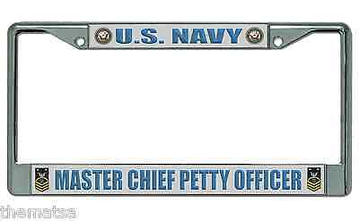 Cpo Navy Master Chief Petty Officer License Plate Frame