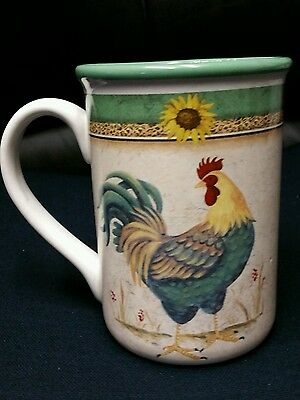 Rooster coffee mug by Gibson, cup, farm, country