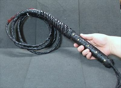 8 Ft. Braided Leather Bullwhip