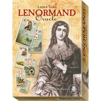 Lenormand Oracle (French Cartomancy large size), book by Laura Tuan, brand new!