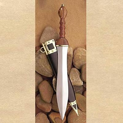 "ROMAN EMPIRE SPQR Roman Emperor Soldier PUGIO KNIFE DAGGER with SHEATH 19-1/4"" L"
