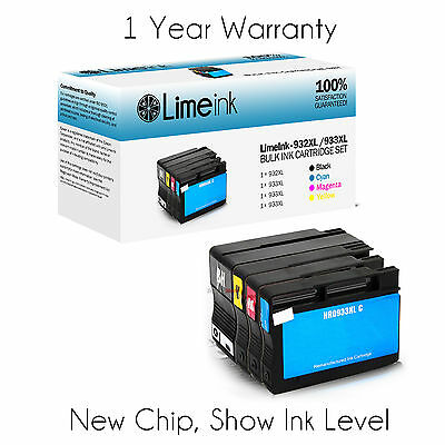 4 Pack 932XL 933XL Ink Cartridges for HP Officejet 6100 6600 6700 7610 7100 7110