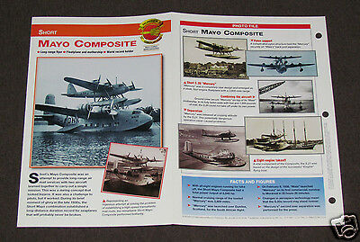 SHORT MAYO COMPOSITE Airplane Photo Spec Sheet Booklet Brochure